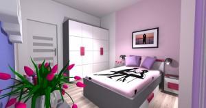 Mieszkanie pokazowe OPTIMA Targówek sypialnia001