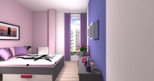 Mieszkanie pokazowe OPTIMA Targówek sypialnia005