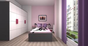 Mieszkanie pokazowe OPTIMA Targówek sypialnia006