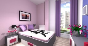 Mieszkanie pokazowe OPTIMA Targówek sypialnia002